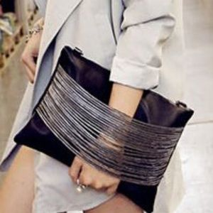 """Large """"Glam Meets Chic"""" Clutch Chain Shoulder Bag"""